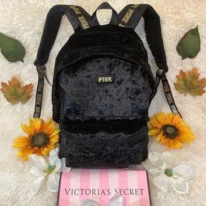 PINK Victoria's Secret Bags - 🎉Pink Victoria Secret Velvet BackPack XL NWOT